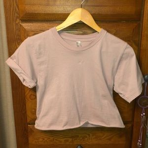 Light Lavender Cropped T-shirt